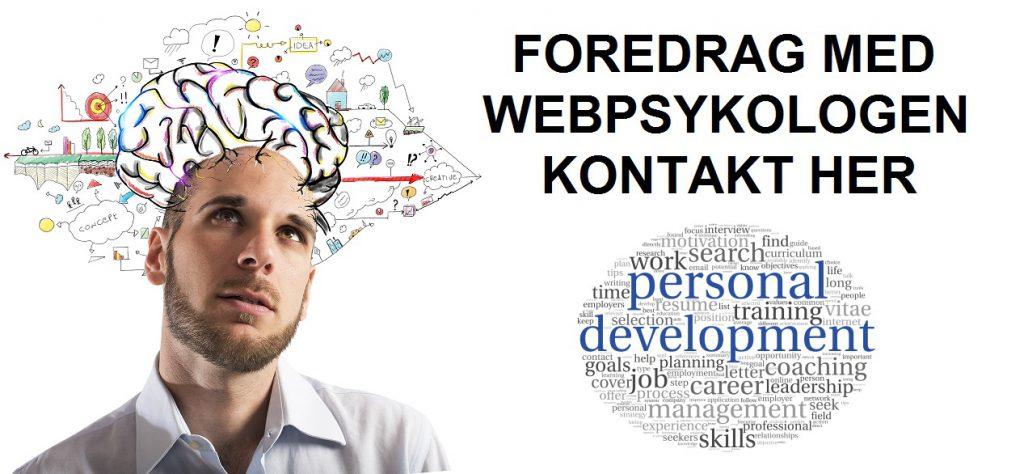 Foredrag med webpsykologen