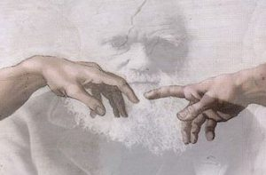 Hands of God and Adam and Darwin