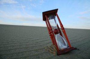 Hourglass on the dune