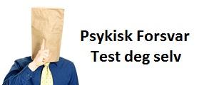 psykisk forsvar test